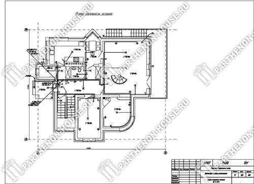 Схема установки первого этажа