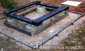 Схема размещения арматуры в элементах стеновой опалубки.