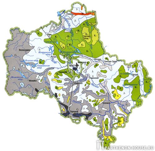 Геологическая карта Подмосковья
