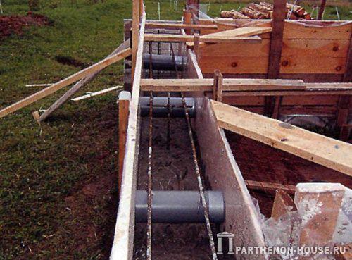 подготовка к бетонированию (устройство продухов)