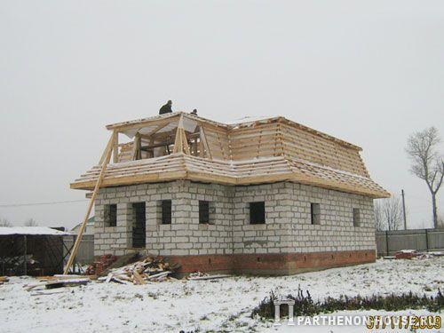Дома деревянный каркас стропильная