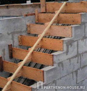 Лестница своими рукам из шлакоблоков