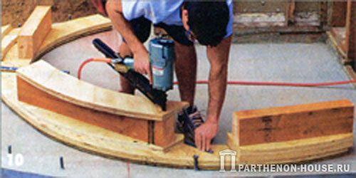 Как сделать полукруглый каркас из дерева