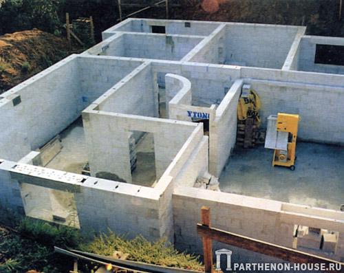 Дом из пеноблоков своими руками с монолитным перекрытием