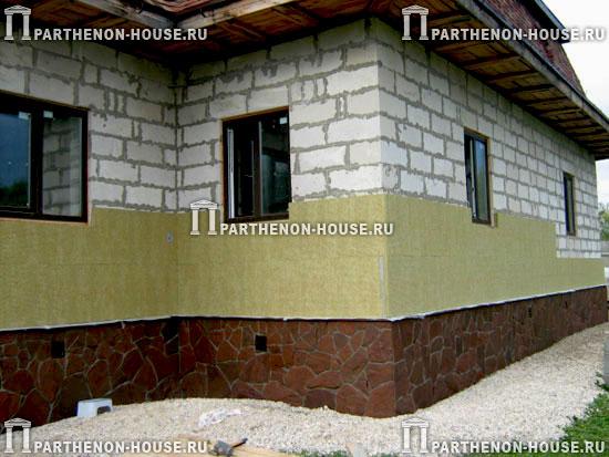 Отделка домов из блоков