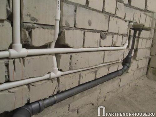 прокладка труб канализации и водоснабжения