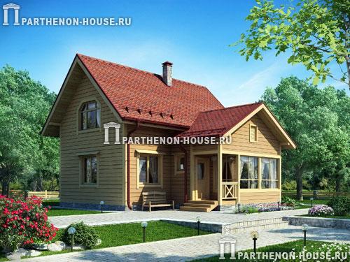 Проект дома из деревянного бруса дбг