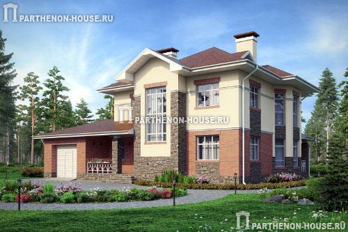 Двухэтажного дома с гаражом мкк 216 74