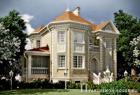 Проект двухэтажных домов с эркером