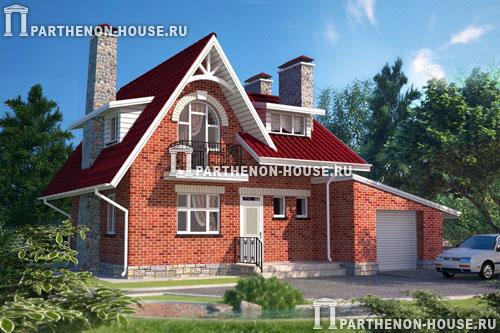 Проект дома с гаражом гб 107 8 107 80 кв м