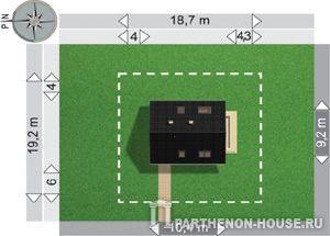 Проект дачного дома из пеноблоков Я 225