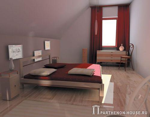 Спальня мансарда ванная мансарда 1