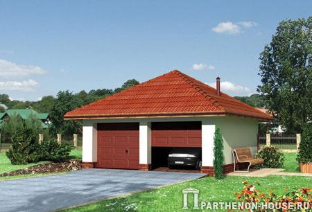 Проект гаража гараж № 03