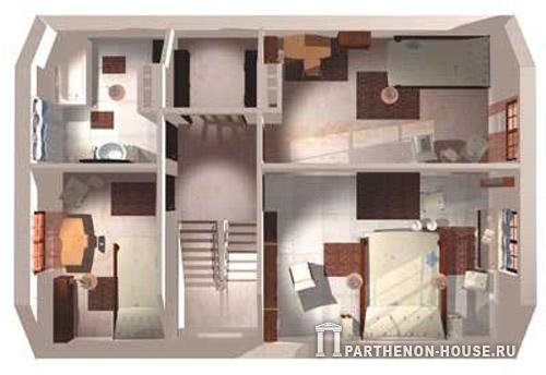 Мансарда планировка комнат фото