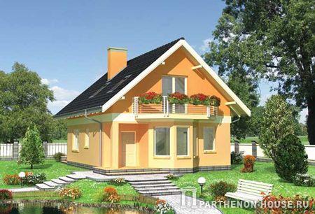 Проект дома с двухскатной мансардной
