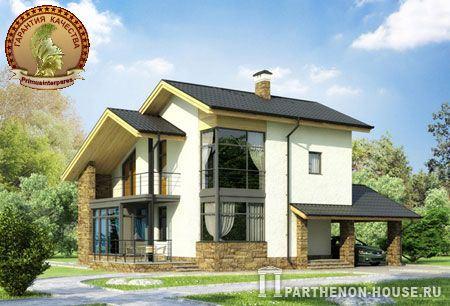 Проект из газобетона двухэтажного дома