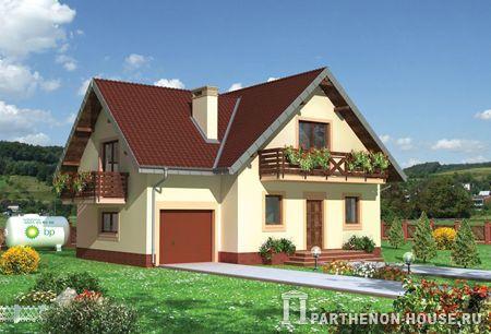 Проект дачного дома с гаражом я 246 8 148