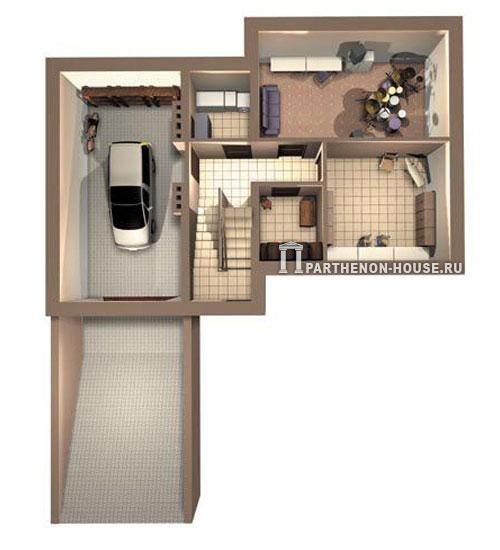 План цокольного этажа загородного