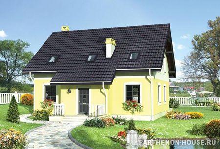 Проект компактного дома на две семьи к