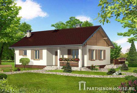 Проект одноэтажного дома в