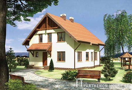 проекты домов из пеноблоков, типовые