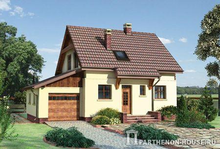 Проект дачного дома с гаражом к 164 7111