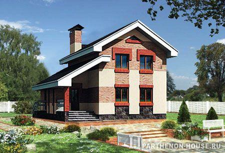 Проект дома двухэтажного из газосиликатного блока