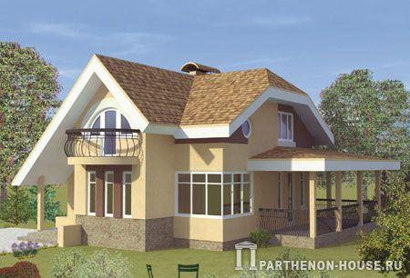 Проект дом с террасой на крыше гаража