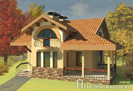 проекты домов с фото с террасой