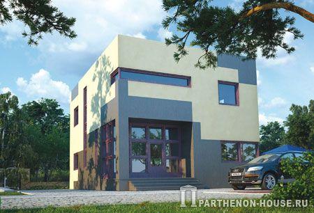 Проект дома с плоской крышей ка 128 2 128