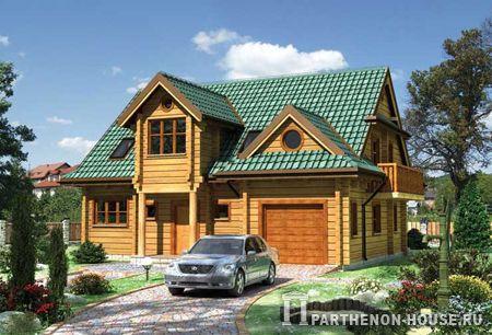 Проект деревянного дома дома профилированный брус