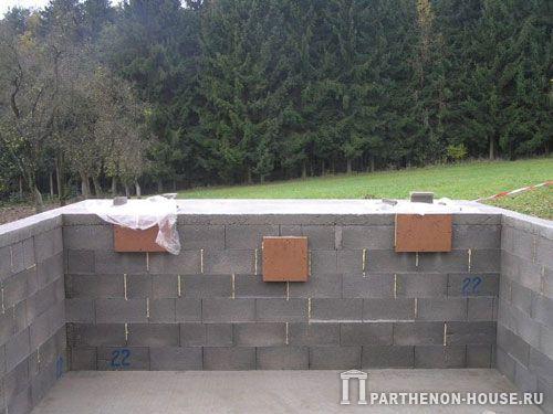 Строительство бассейна из блоков своими руками 65