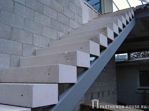 Лестница из газобетона своими руками