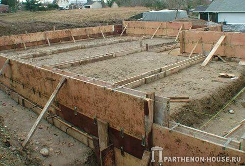 Фундамент для строительства дома из пеноблоков