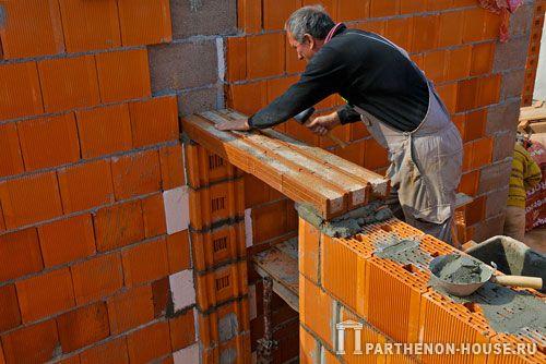 Перемычка своими руками в домах из керамических блоков