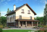 Данный проект предусматривает строительство двухэтажного дома с террасой, общей площадью...
