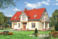 Готовые проекты домов - проекты домов из кирпича.  Типовой проект дома Я 247-1-0.